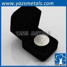 999 moneda de plata pura con caja de terciopelo negro