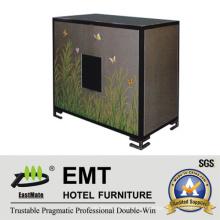 Gabinete de pintura vívida del mobiliario del área del hotel de madera sólida (EMT-DC05)