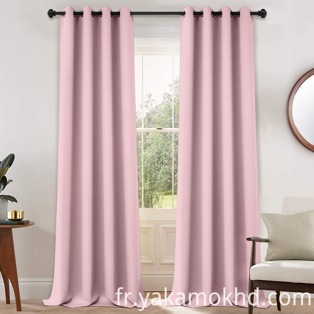 108 Pink Curtains