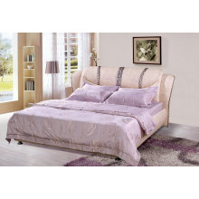 Rosa moderne Bett, Ciff, ledernes Bett (9006)
