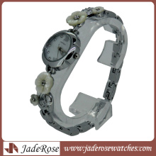Reloj de pulsera de cuarzo con esfera de flores para mujer