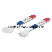 "100% Melamine Tableware - ""France Bear""Series Melamine Spoon and Fork (FB503S)"