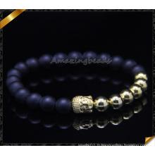 Bracelets en or plaqué or Bracelet en pierre d'agate matte (CB0112)
