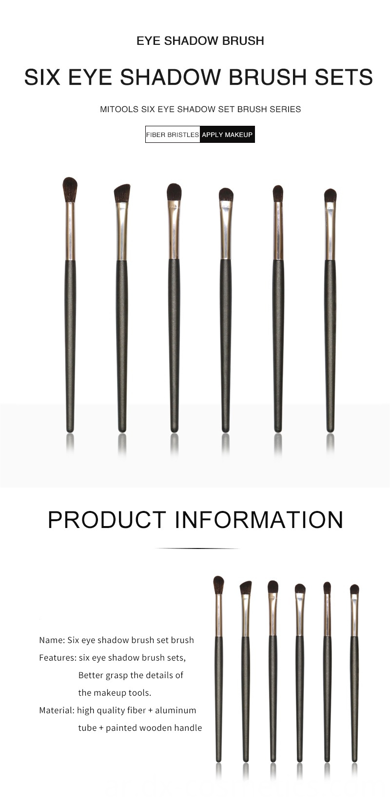 6 PCS Eyeshadow Brushes Set 1