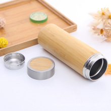 Top Grade Eco-Friendly Bamboo Thermos Vacuum Flask with Filter