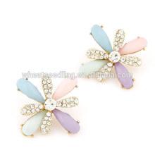 2014 Fashion amethyst flower earrings