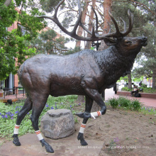 outdoor garden decoration metal craft stag bronze metal deer sculptures