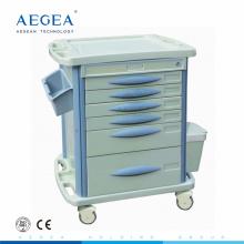 AG-MT003B3 mobile roulant grade patient médicament stockage mobile hôpital médical utilitaire chariot