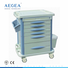 AG-MT003B3 6-drawer abs medicine medical cart with drawer