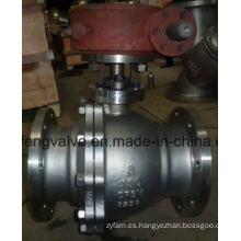 API Válvula de bola montada en muñón de extremo de brida con acero inoxidable