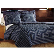 Simple Geometric Pattern Design Patchwork Bedding Set Quilts Summer Quilts (WSPQ-2016007)