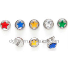 Color Star Encapsulated dermal Anchor body piercing jewelry