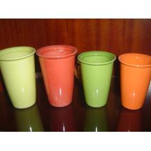 Taza cerámica de Eco sin mango de Copa Esmaltada