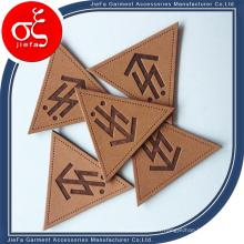 Patch en cuir gaufré personnalisé et étiquette