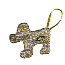 Durable Using Low Price Tugging Plush Artificial Material Linen Rubber Dog Chew Toy