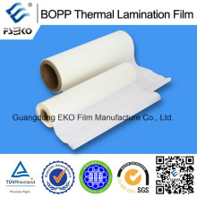 Película laminadora térmica BOPP con pegamento EVA para impresión offset