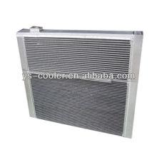 Алюминиевый ребристый теплообменник для строительной техники