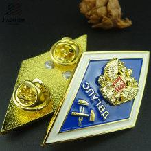 Suministro de Fábrica de Decoración Del Hogar Aleación de Fundición Personalizado Esmalte Pin Metal Policía Insignia