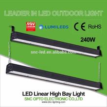 O CE RoHS aprovou a iluminação alta linear da baía do diodo emissor de luz 240w com o motorista bom do HLG do meio