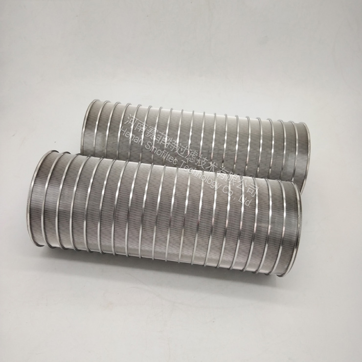 Slotted Wedge Wire Screen Panels Formed Reverse Self-Clean Filter