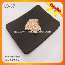 LB67 Étiquette en cuir en cuir sur mesure pour jeans, cuir véritable et faux étiquette en cuir avec logo