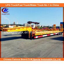 Semi-reboque de carga pesada 60tons Gooseneck Lowbed com rampas mecânicas