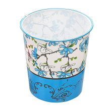 Plastic Fashion Printed Open Top Trash Bin