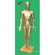 178cm Antiquités médecine médicale chinoise modèle d'acupuncture bronze