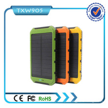 Hohe führen 10000mAh Portable USB Solar Power Bank Ladegerät