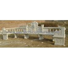 Antike Gartenstühle mit Stein Marmor Granit Sandstein (QTC055)