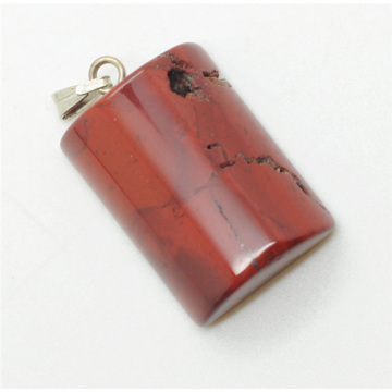Semi Cylinder Shape Red Jasper pendant
