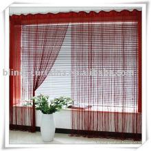 Type de rideau de cordes rouge