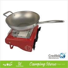 Poêle de camping portatif à double fonction