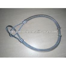 Большой стальной кабель безопасности Whipcheck углерода