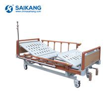SK041-1 дешевые руководства больницы пациент кровати с регулируемой высотой для продажи