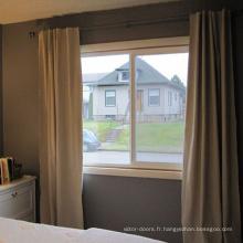 Fenêtre coulissante en PVC de bonne apparence avec motif de grille Fenêtre coulissante en PVC de bonne apparence avec motif de grille