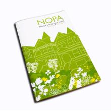 Folheto personalizado com impressão offset de cores completas