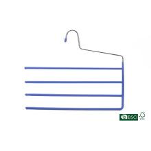 4 Tier High Quality PVC Metal Pants Hanger
