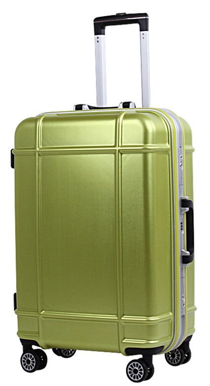 green luggage