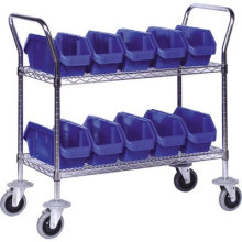 NSF Metal Utility Cart Metal Service Trolley for Hospital