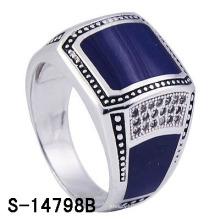 Фабрика Hot-Selling Кольцо эмали 925 серег стерлингового серебра для человека.