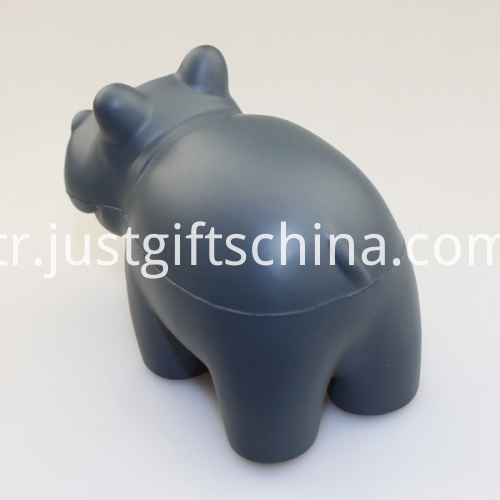 Promotional PU Hippo Gray Shape Stress Ball3