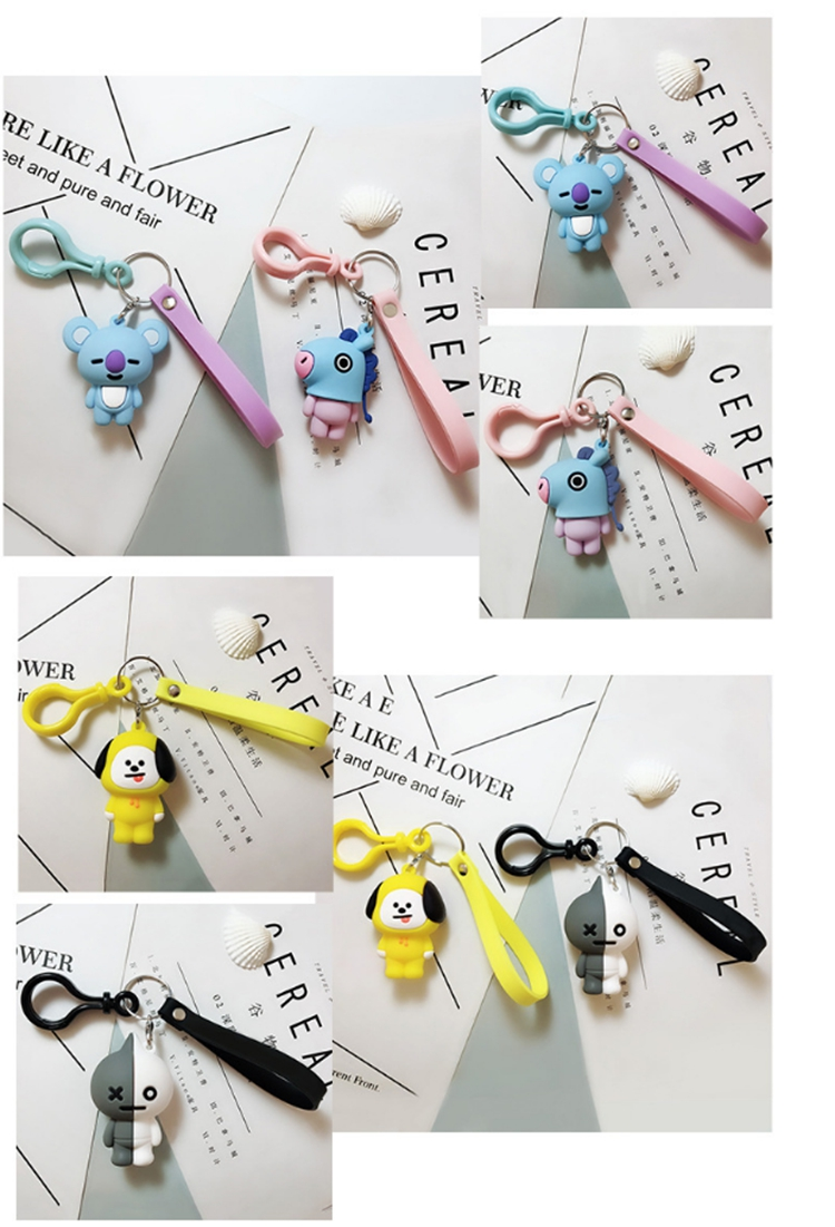 cartoon cute silicone keyring