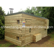 40ft Site Drying Room Containers with Wooden Cladding Panel (shs-fp-special008)