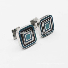 Novelty Square Shaped Metal Enamel Double Sided Cufflinks For Gift