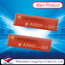 Barato Custom Printing Employee Name Badge con Epoxy