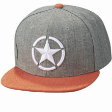 New Design Custom Embroidery 6 Panel Snapback Cap