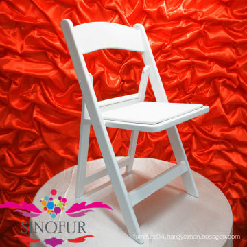 whosale white resin wedding folding chair