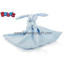 """Blaues Kaninchen-Häschen-Tröster Doudou Blankie-Blau 27cm / 10.6 """"Quadrat"""