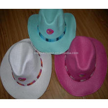 2013 nuevo sombrero de paja que viene con el trabajo del remiendo